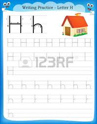 writing practice letter x printable worksheet with clip art