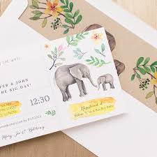 elephant baby shower invitations ellie the elephant baby shower invites with envelope liners