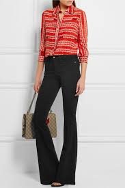 Flared High Waisted Jeans Frame Le High Flare High Rise Jeans Net A Porter Com