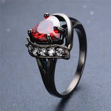 gothic ruby rings images Heart black gothic ring dark moon jpg