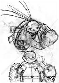 leo and raph pencil sketch by red j on deviantart