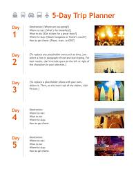 travel itinerary images Trip itinerary template free download edit fill create and png