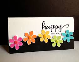 How To Make Easy Paper Flowers For Cards - handmade card happy flowers happy birthday short and