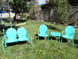 Vintage Patio Furniture Metal by 342 Best My Vintage Lawn Furniture Images On Pinterest Lawn