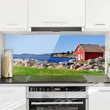 revetement mural cuisine credence bilderwelten crédence en verre in panorama