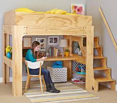 Wood Plans Bunk Bed by Loft Bed And Desk Woodworking Plan From Wood Magazine