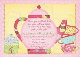 attire wording tea party birthday invitation wording cimvitation