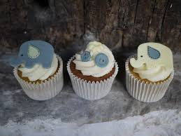 Elephant Decorations Cupcake Magnificent Blue Elephant Cupcakes Baby Elephant