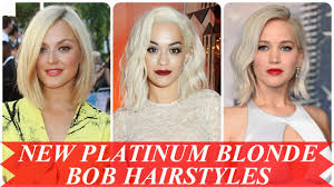 platinum blonde bob hairstyles pictures new platinum blonde bob hairstyles youtube