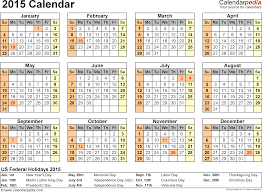 8 best images of a year at glance printable 2015 calendars