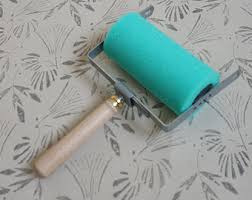 paint rollers with patterns pattern paint roller etsy