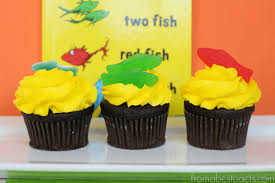 dr seuss cupcakes one fish two fish seuss inspired cupcakes from abcs to acts