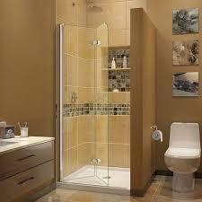 5 Shower Door Dreamline Aqua Fold 72 X 29 5 Folding Semi Frameless Shower Door