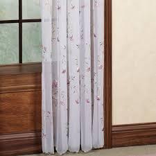 sheer drapes for sliding glass doors loretta sheer window treatment