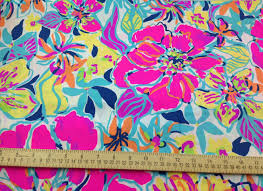 lilly pulitzer fabric multi besame mucho cotton poplin