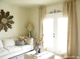 decorating creative design of burlap curtains for home decoration