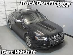 black audi s4 audi s4 thule rapid traverse silver aeroblade roof rack 09 13