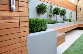 Raised Garden Bed With Bench Seating Modern Garden Design Landscapers Designers Of Contemporary Urban