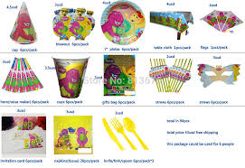 Free shipping birthday party ideas kids birthday party barney