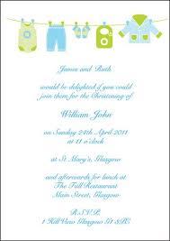 Wedding Invitations Glasgow Personalised Baby Boy Christening Flat Invitations Clothes Line