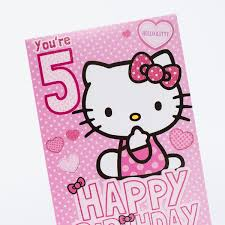 5th birthday card hello kitty only 99p