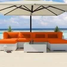 Wicker Sectional Patio Furniture by Orange Patio Furniture Sets Foter