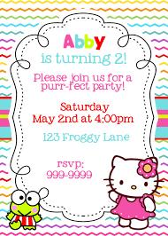 printable hello kitty birthday party ideas hello kitty rainbow printable birthday invitation 15 00 via