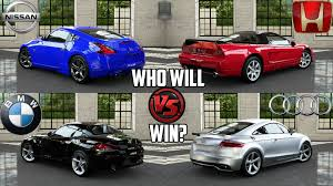 nissan 370z vs camaro forza 5 nissan 370z vs honda nsx r vs audi tt rs coupe vs bmw z4