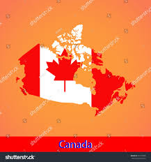 Flag Of Canada Map Flag Canada Stock Vector 533175868 Shutterstock
