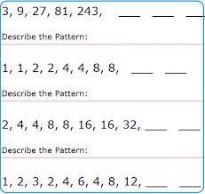 simple number pattern worksheets mreichert kids worksheets