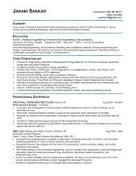 Resume Sample Key Competencies by Environmental Engineer Sample Resume 20 Sample Resume For