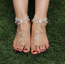 amazon com skyvan one piece bride ankle bracelet crochet for