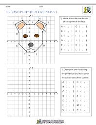 coordinate graph coordinate plane worksheets 4 quadrants