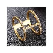 new fashion rings images Buy fashion new lohome fashion rings 18k gold tone double loop jpg