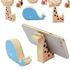 universal mini wood animal cell phone desk stand holder for iphone