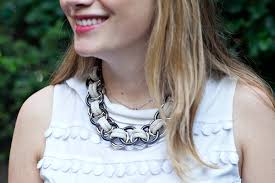 metal ring necklace images Diy tory burch inspired rope metal ring necklace the stripe jpg
