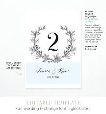free table number templates template seating cards template free printable wedding table number