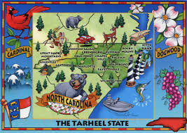 Nc State Map Detailed Tourist Illustrated Map Of North Carolina State Vidiani