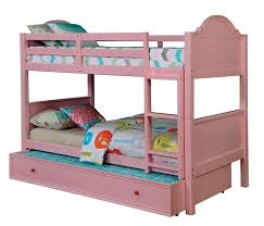Bunk Bed Headboard Furniture Of America Cm Bk920pk Collection Pink Finish Wood