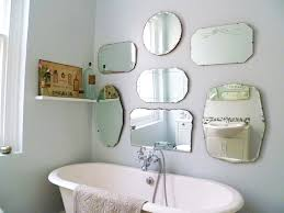Beveled Mirrors For Bathroom Frameless Bathroom Mirror With Shelf In Mirrors Photo Beveled For