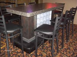 stand up bar table bar booths tables restaraunt both tables topss cafe furniture