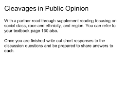 public opinion wilson chapter 7 pair and share connect with