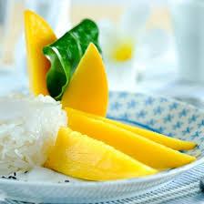 cuisiner la mangue recette riz gluant au lait de coco et à la mangue