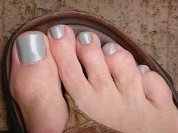 light grey nail color with silver shimmer nail polish colors for men