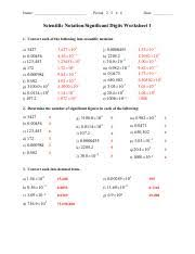 4 sig figs u0026 scientific notation significant figures worksheet 1