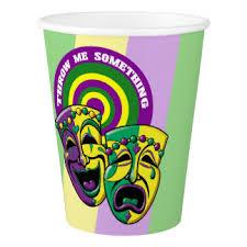 mardi gras throw cups mardi gras paper cups zazzle
