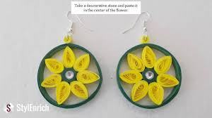 easy earrings easy diy jewelry how to make beautiful paper earrings at home