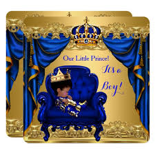 royal prince baby shower theme baby shower boy prince royal blue golden card zazzle