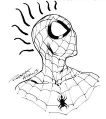 spiderman drawings head clip art library