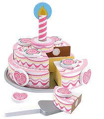 Melissa U0026 Doug Triple Layer Party Cake Wooden Play Food Set Toys
